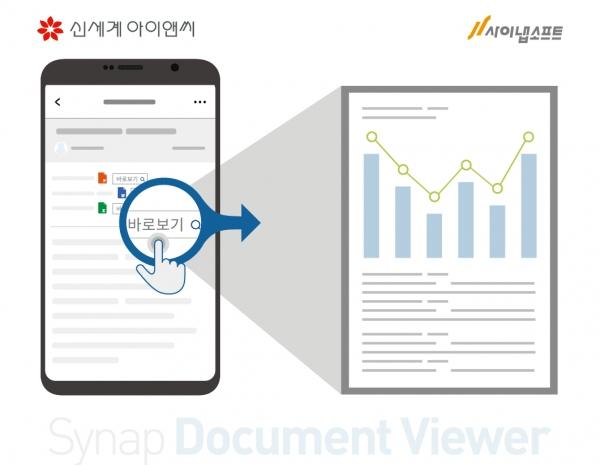사이냅 문서뷰어, 신세계아이앤씨 모바일 그룹웨어에 적용