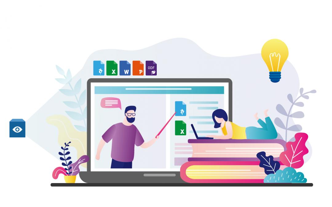 원격수업을 돕는 '사이냅 문서뷰어 For Google Workspace'